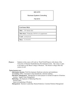 MIS 4379 Syllabus Fall 2014
