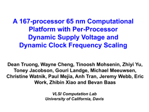 PPT - VLSI Computation Lab - University of California, Davis