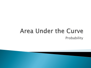 Area Under the Curve (ppt)
