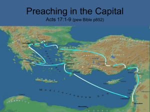 Preaching in the Capital Acts 17:1