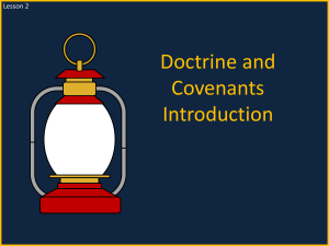 Lesson 2 Doctrine and Covenants Introduction Power Pt