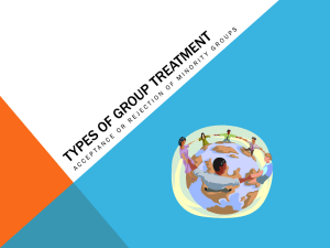 Types of Group Treatment