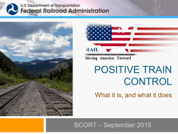 FRA - PTC - Standing Committee on Rail