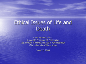 Advance Directives: Social and Ethical Implications