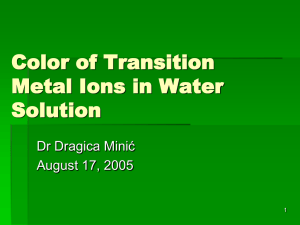 Color of Transition Metal Ions