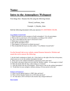 2. What are the six main layers of the atmosphere, according to this