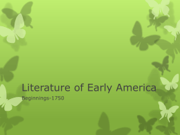 Literature of Early America