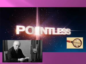 Pointless – Britain 1890-1918