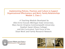 Implementing Policies, Practices and Culture to Support