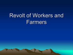 Revolt of Workers and Farmers - Calhoun-Community