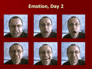 Facial Expressions and Theories of Emotions