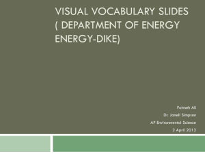 Visual Vocabulary Slides (Energy-Dike) - APES-Fall-2011