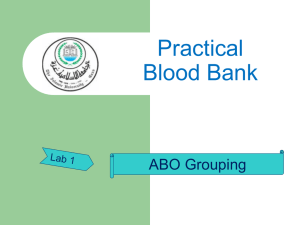 LAB 1: ABO blood grouping