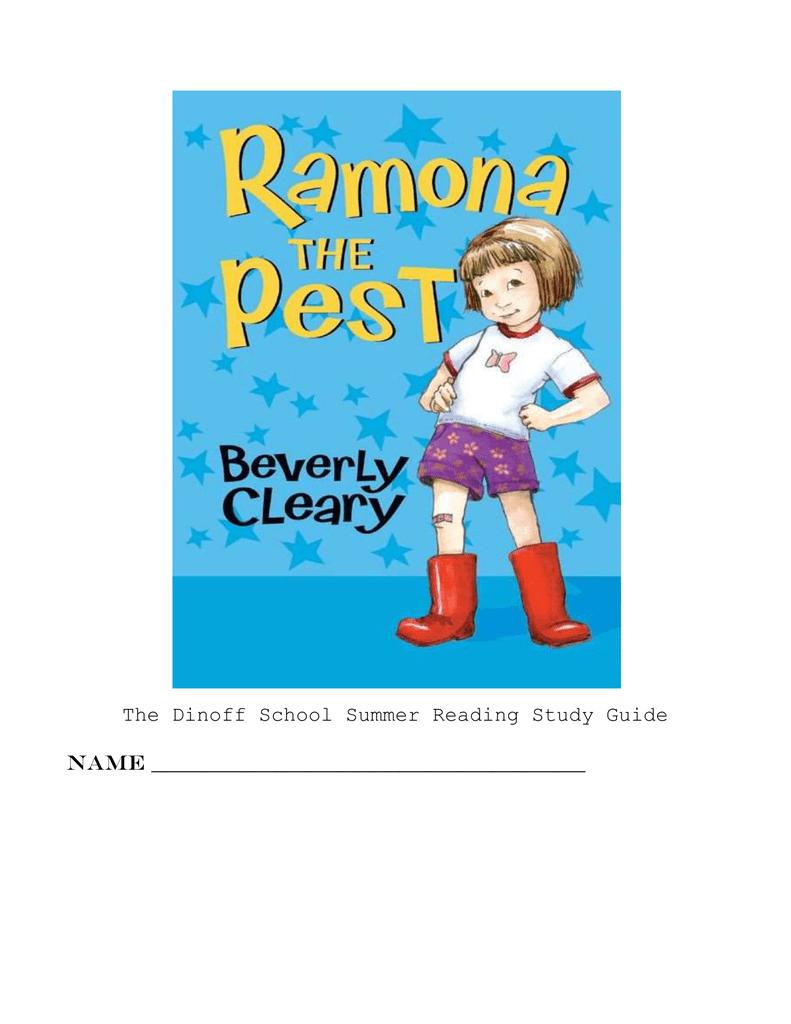 ramona the pest study guide rh studylib net Ramona The Brave Printables Ramona and Beezus Book