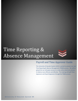 Time Reporting & Absence Management