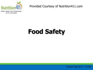 Level 1 Chapter 2 Keeping Food Safe