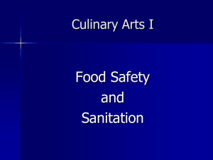 food safety & sanitation - Waukee Community School District Blogs