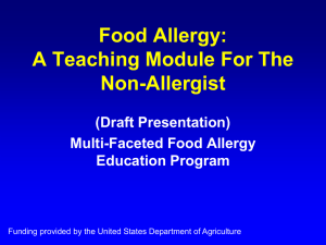 Food Allergy: A Teaching Module For The Non