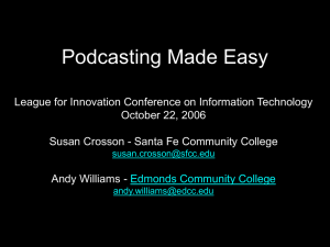 Podcasting Made Easy - Web Resources for Faculty Members