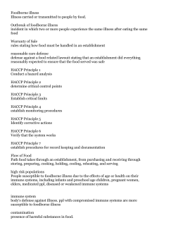 Candidate Study Guide for the Illinois Food Service ...