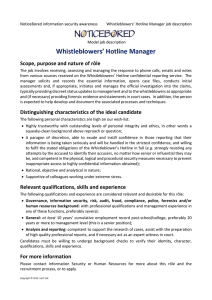 Whistleblower's Hotline Manager