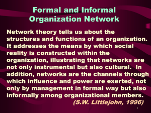 Formal and Informal Organization Network