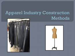 Apparel Industry Construction Methods PPT