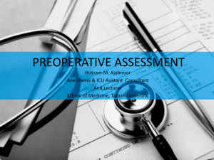 Preoperative Evaluation And Management