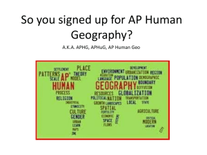 So you signed up for AP Human Geography?