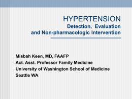 hypertension - University of Washington