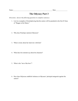 odyssey study guide product user guide instruction u2022 rh testdpc co The Odyssey Character Chart the odyssey study guide answer key book 1