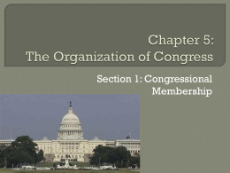Chapter 5: The Organization of Congress