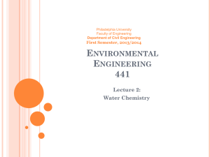 Environmental Engineering 441 Lecture 2