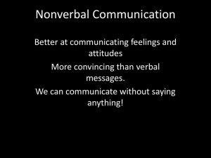nonverbal comm definitions power point