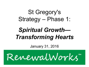 St. Gregory's Strategy Update Report
