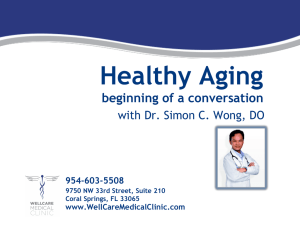 Healthy Aging - Wellcare Medical Clinic
