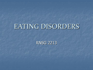 Eating Disorders - Austin Community College