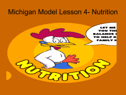 MM Nutrition Lesson 3
