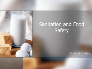 Sanitation and Food Safety