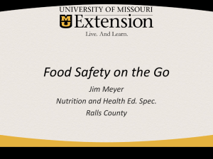 Food Safety on the Go ppt