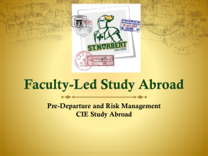 Faculty-Led Study Abroad