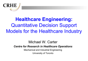 Operations Research / Management Science in Health Care