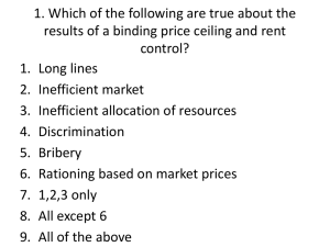 Which of the following are true about the results of a binding price