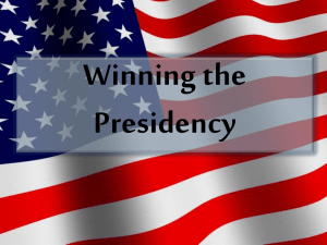 Winning the Presidency