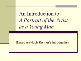 An Introduction to A Portrait of the Artist as a Young Man