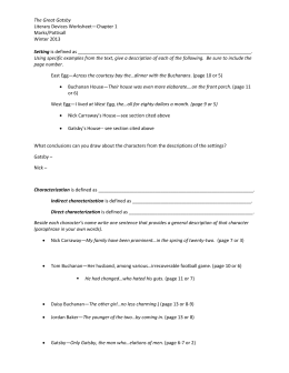 The Great Gatsby Literary Devices Worksheet Ch 1 – Exemplar