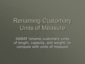 5.17 Renaming Customary Units of Measure