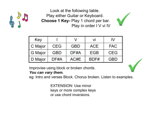 first: Improvise using block or broken chords. You can vary them. eg