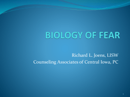 biology of fear - Crossroads of Iowa
