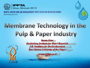 12. Membrane Technology in the Pulp & Paper Industry